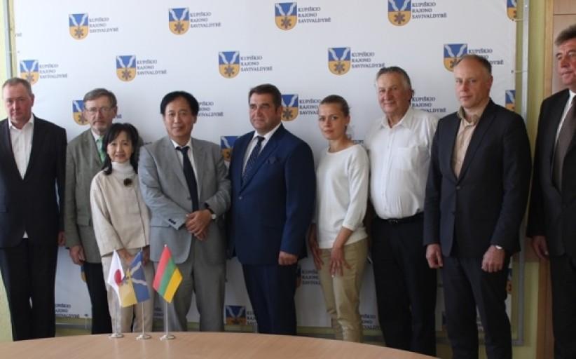 Kupiškyje lankėsi Japonijos ambasadorius Lietuvoje Toyoei Shigeeda