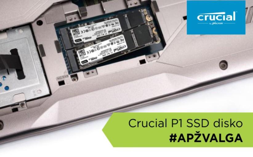 """""""Crucial P1"""" SSD disko apžvalga [VIDEO]"""