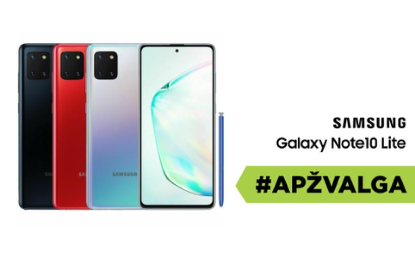 """""""Samsung Galaxy Note 10 Lite"""" apžvalga"""