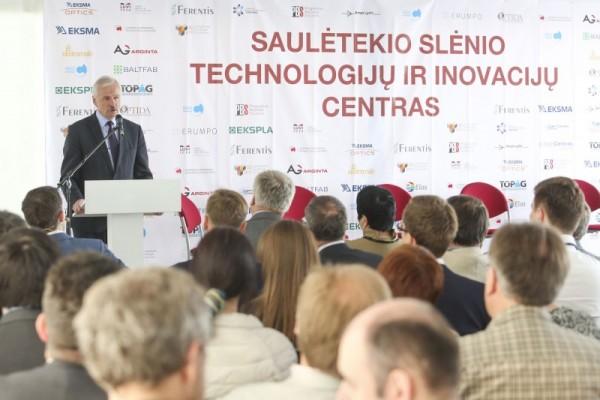 Ūkio ministras E. Gustas: Saulėtekio slėnio technologijų ir inovacijų centras sustiprins Lietuvos pramonės ir mokslo potencialą
