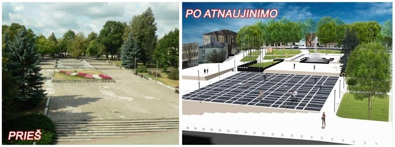 Netrukus bus pradėti Kupiškio L. Stuokos-Gucevičiaus aikštės atnaujinimo darbai
