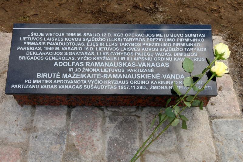 Artėjant Lietuvos šimtmečiui – atminimo simbolis Adolfui Ramanauskui-Vanagui Kaune