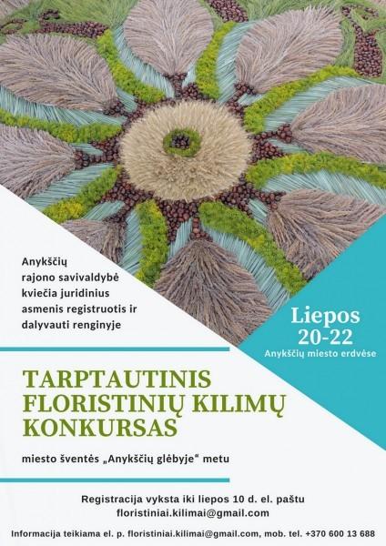 Anykščiuose vyks tarptautinis floristikos kilimų konkursas