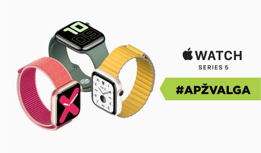 """""""Apple Watch Series 5"""": vis dar geriausias išmanusis laikrodis? Apžvalga"""
