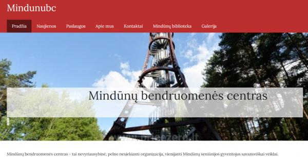 Patogesniam veiklų viešinimui – nauja Mindūnų bendruomenės centro internetinė svetainė