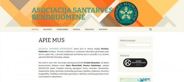 Atnaujinta Santarvės bendruomenės internetinė svetainė atveria naujas galimybes