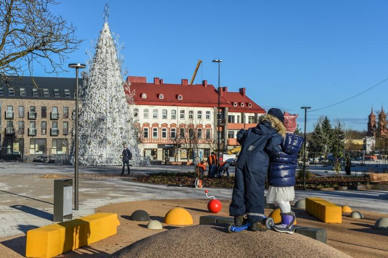 Panevėžio miestas jau rytoj miestas nušvis kalėdinėmis šviesomis