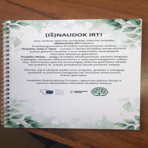 Projekto metu sukurtas ir išleistas informacinis leidinys