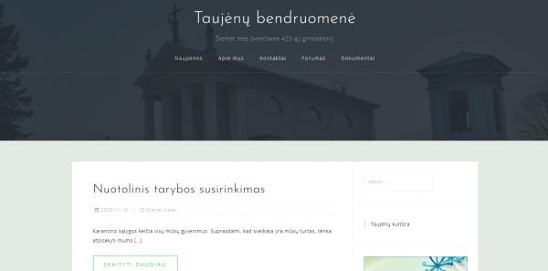Nauja Taujėnų bendruomenės internetinė svetainė – erdvė kiekvienam taujėniškiui