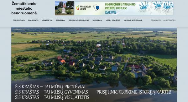 Žemaitkiemio miestelio bendruomenė nauja skaitmenine erdve siekia kuo daugiau žmonių įtraukti į bendruomenės veiklą