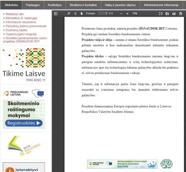 Sirutiškio bendruomenės centro projektas skatina narių skaitmeninius gebėjimus